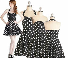 Cotton Blend Polka Dot Formal Dresses for Women