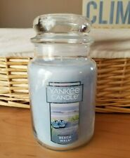 YANKEE CANDLE ~ BEACH WALK Jar Candle Baby Blue 22 oz ~ NEW