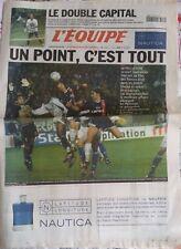 L'Equipe Journal 30/11/2001; PSG-OM 0-0/ Finale du double de la coupe Davis