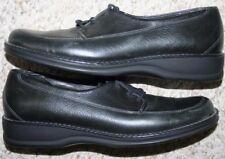 Trotters Black Dress Genuine Leather Shoes 8.5 Eight 1/2 Flats Solid Womens Dark