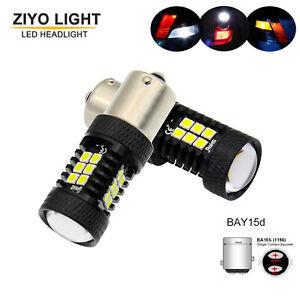 LED Backup Light White LED Tail Reverse Bulbs 1156 P21W BMW 5 Series E28 E34 E39