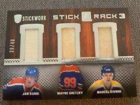 2015-16 In the game Stick Rack 3 GRETZKY-KURRI-DIONNE 39/40 SP