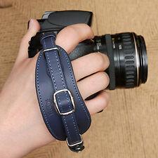 CIESTA DSLR SLR Camera Leather Hand Grip Strap (Navy Blue) w/ Dovetail Plate