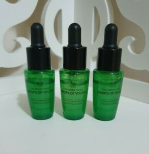 The Body Shop Drops of Youth Concentrate Serum 7ml x 3 Sample / Travel Size **