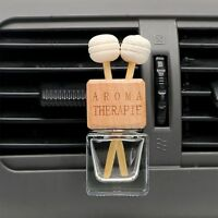 Car Hanging Air Freshener Perfume Pendant Frosted/Transparent Glass Bottle