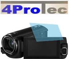 4x Hartbeschichtete Displayschutzfolie AR für Panasonic HC-W580 Displayfolie
