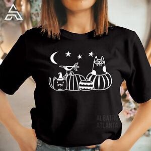 HALLOWEEN CATS AND PUMPKINS Top Halloween Offical T Shirt Horror Ghost 1779