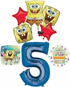 Spongebob Squarepants 5th Birthday Party Supplies and Balloon Bouquet