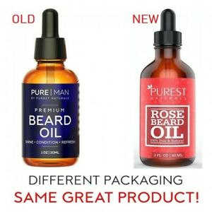 2  2fl oz. Wholesale Lot Organic Beard Rose,Jojoba Argan Oil & Vitamin E