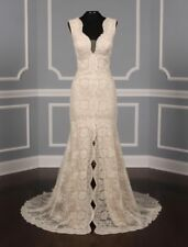 AUTHENTIC Monique Lhuillier Paloma Lace Wedding Dress 10 RETURN POLICY