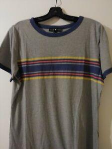 Derek Heart Plus Gray Multicolor Cotton Blend S/Sleeve crew neck shirt 1X   050