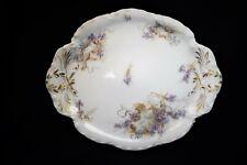 Vintage Art Nouveau Haviland Limoges France Iris Flower Pattern Small Platter