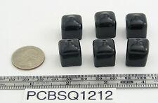 """6 - Square Push-On Pliable Vinyl Caps - Plastic tips- End Caps 1/2"""" Square"""