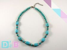 Unique Turquoise Silver Necklace Fashion Jewelry