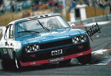 Jackie Stewart Firmada A Mano Ford British Touring Cars 12x8 Foto 1.