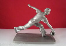 Pewter Bowler by Albert Petitto Limited Edition Statue Figure Bowling