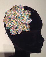 Diamante Crystal Rhinestone Flower Alice Hair Head Band with flower centre
