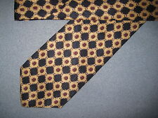 Mens Yellow Blue Print Silk Tie Necktie Requirements~ FREE US SHIP (6286)