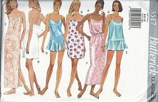 Butterick Sewing Pattern # 3517 Misses Slip Camisole Teddy Panties Size 6-8-10