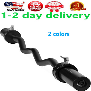 Curl bar Barbell for 2 inch olympic weight plates. Brand New!