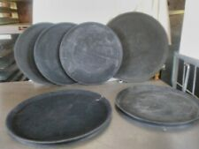 Thunder group round plastic serving trays lot of 6