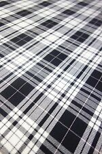 "TARTAN CHECKED FABRIC MATERIAL BY METRE 58"" WIDE 24 HOUR DISPATCH"