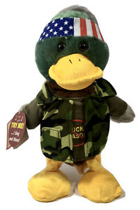 "New Chantilly Lane Camo Duck Dynamo Singing Dancing Plush Duck ""Bad to the Bone"""