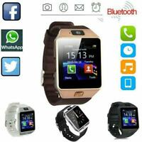 DZ09 Bluetooth Smart Watch Camera Phone Mate Gsm Sim Android Iso For Samsung IOS