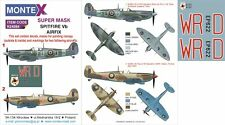Montex 1/24 masks, nose art and stencils for SPITFIRE Vb by AIRFIX - K24084