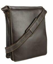 New Visconti 18410 Genuine Leather Messenger Bag Shoulder Handbag Large Mocha