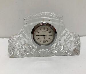 Quartz Mini Mantel Crystal Desk Clock
