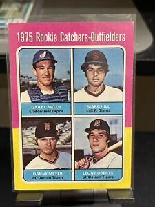 1975 topps gary carter rookie, nicely centered HOF Mets and Expos