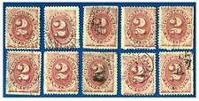 Scott# J16  US  BOB 2c- Postage Due Stamps 1884  USED Fancy cancels F-VF $60