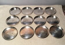 Carl Poul Petersen Montreal Canadian Sterling Silver Set 12 Floral Coasters