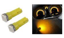 2 LAMPES LED JAUNE T5 SMD 5050 ampoule voiture lumière cabine tableau de bord