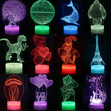 7 Color Changing LED Night Light 3D Star Wars Home Desk Decor Lamp Kids Gift