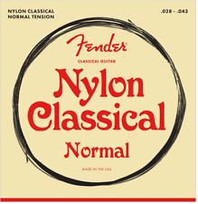 Fender Nylon Acoustic Strings, 100 Clear/Silver, Tie End, Gauges .028-.043