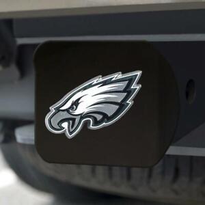 Philadelphia Eagles Hitch Cover Color Emblem on Black [NEW] Truck Cap Trailer