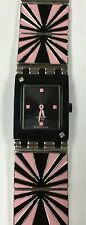 Swatch Authentic Women's Pink Ceramic Design With Steel Band Rare!!!