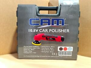 CAM 10.8V Lithuim Ion Cordless Car Mini Polisher Kit 80mm with Extra Battery