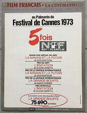 LE FILM FRANCAIS La Cinématographie Française FESTIVAL CANNES 1973 Nef-Planfilm*