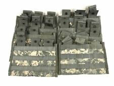 New Lot of 6 Triple Mag Pouch, ACU Digicam Army 3x30 MOLLE II Side by Side Pouch