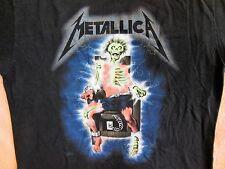 METALLICA Vintage Concert Shirt 1985 Large GLOW IN THE DARK Vintage Original