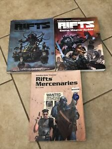 Palladium Books Rifts Mercenaries OOP RPG Roleplaying Roleplay Gaming Game HTF