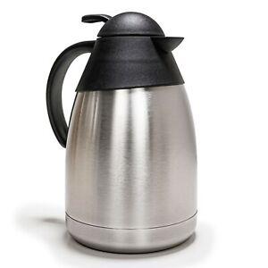e-Best Isolierkanne 1,5 L Doppelwand, Kaffeekanne, Thermoskanne, Teekanne