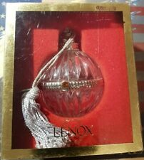 1999 Lenox Pave Jewels Baby's First Christmas Glass Ball Ornament & Jewel w/Box