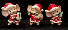 Vintage Homco Christmas Mice Set #5405 Taiwan