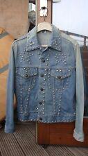 vintage denim studded jacket.as worn by.1970s/1980s designer inspiration stud XS