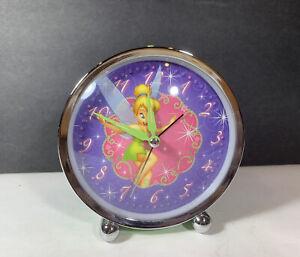 Disney Metal Tinkerbell Alarm Clock Running Retro Style Vintage Tinker Bell