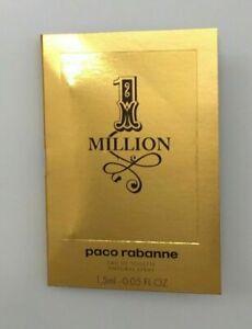 ONE MILLION 1.5ml EDT VIAL For Men By PACO RABANNE * 1 Million *